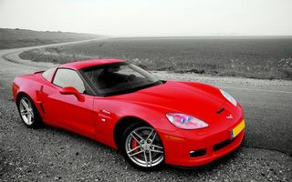 Photo free chevrolet corvette, red, lights