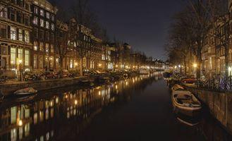 Заставки Amsterdam,Амстердам,столица и крупнейший город Нидерландов,Нидерланды,Расположен в провинции Северная Голландия,Голландия,панорама