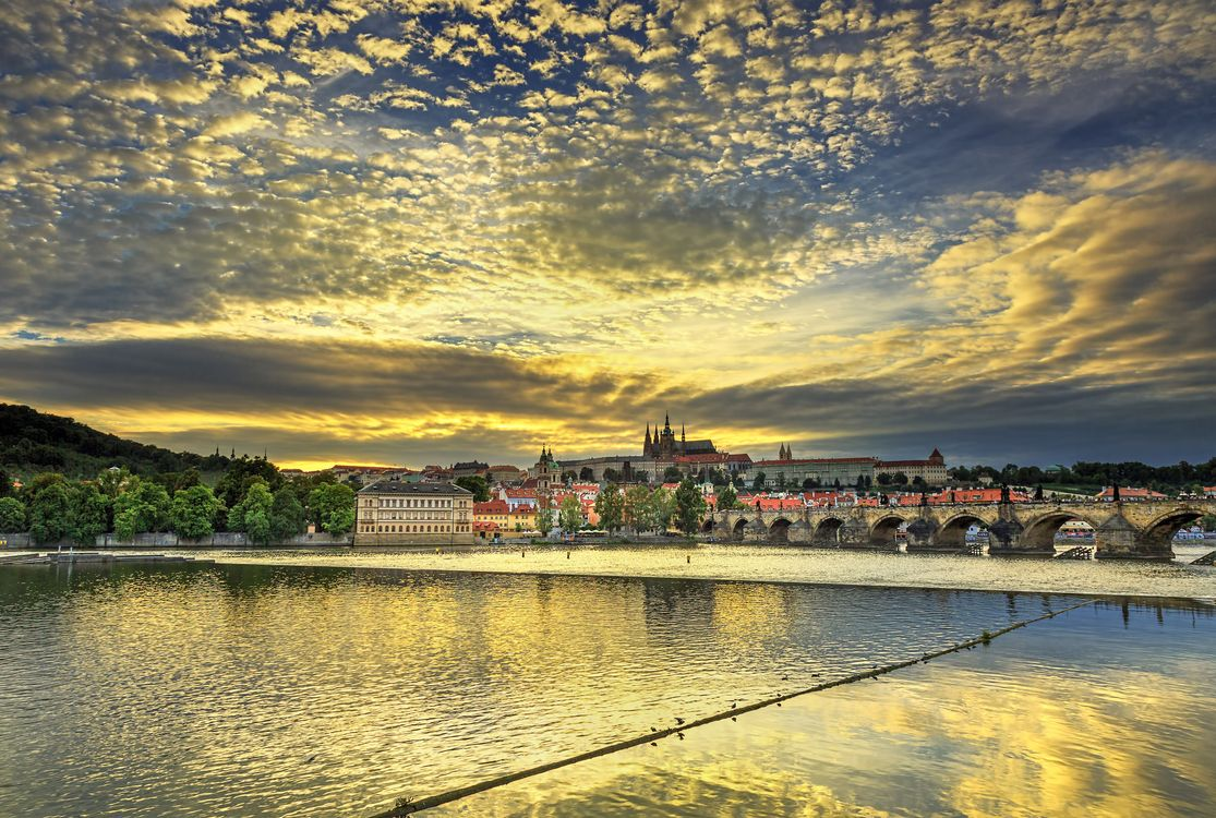 Фото бесплатно Прага, Чехия, Prague, Charles Bridge, Vtlava River, город