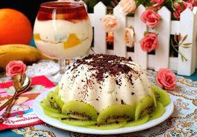 Бесплатные фото десерт, шоколад, киви, пудинг