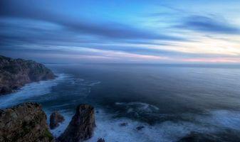 Бесплатные фото закат,море,скалы,Португалия,пейзаж