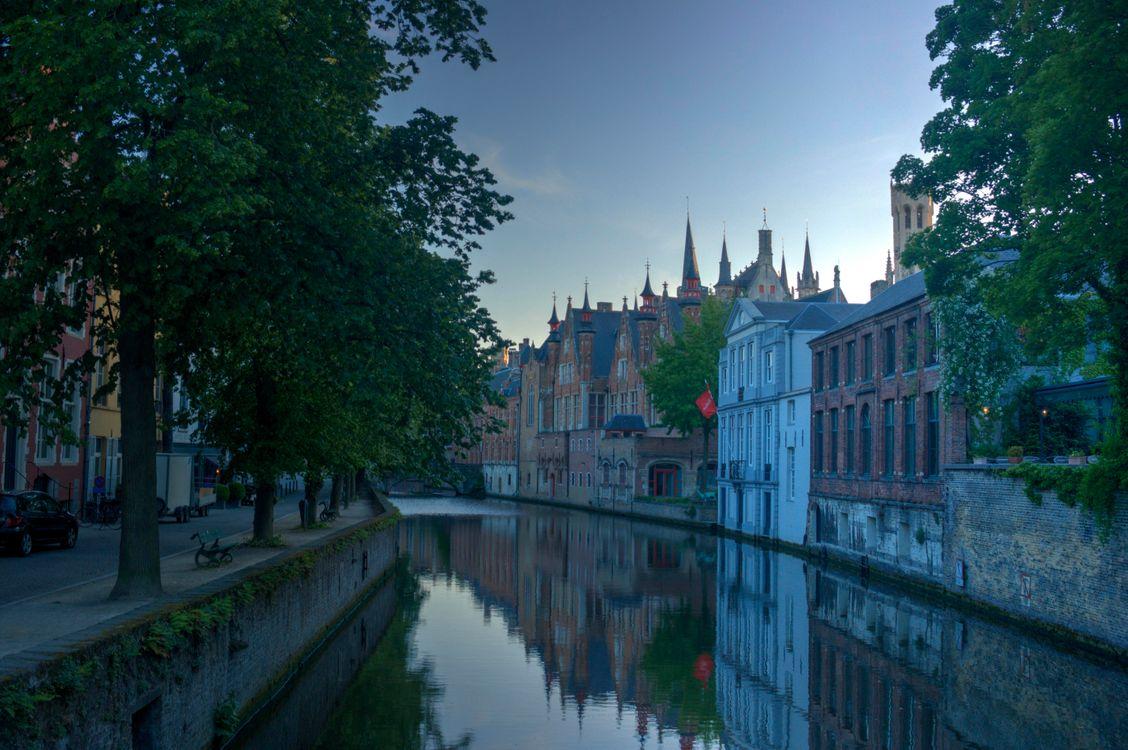 Фото Брюгге Бельгия канал - бесплатные картинки на Fonwall