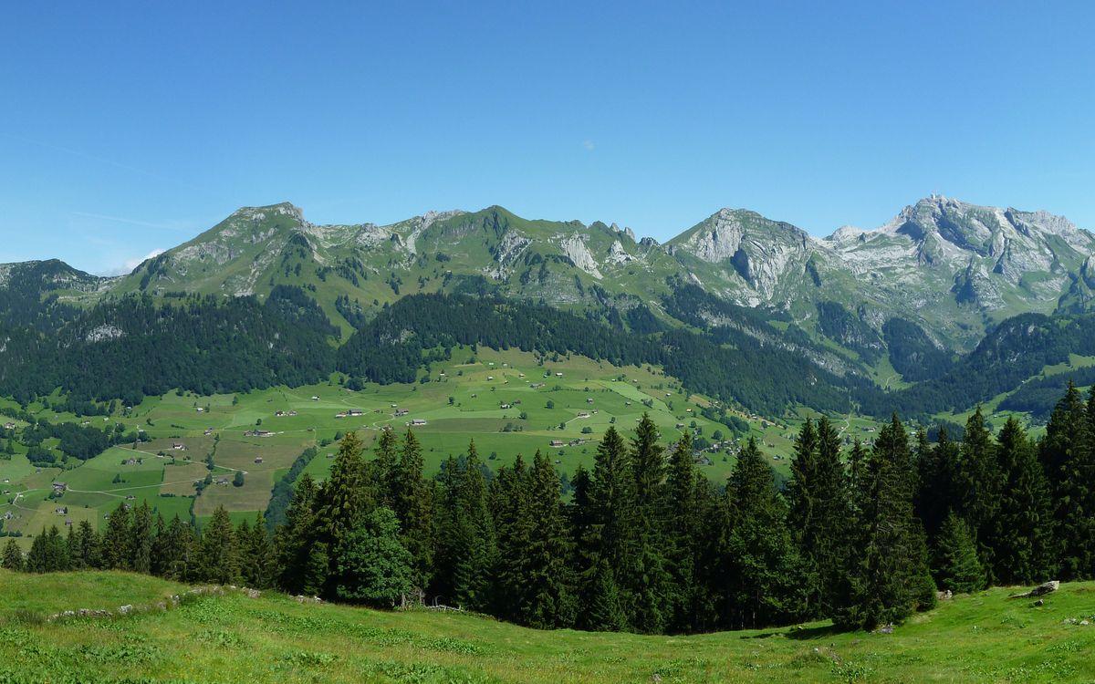 Фото бесплатно лето, горы, дома - на рабочий стол