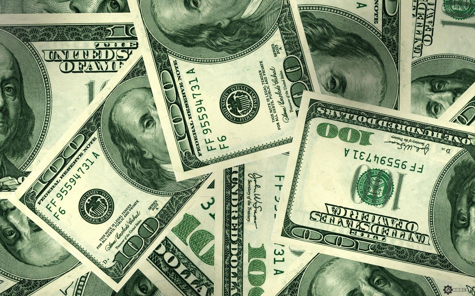 Обои доллары, баксы, купюры, зеленые