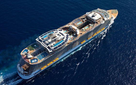 Фото бесплатно круизный корабль, бассейны, люди