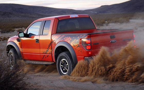 Фото бесплатно форд, пикап, красный