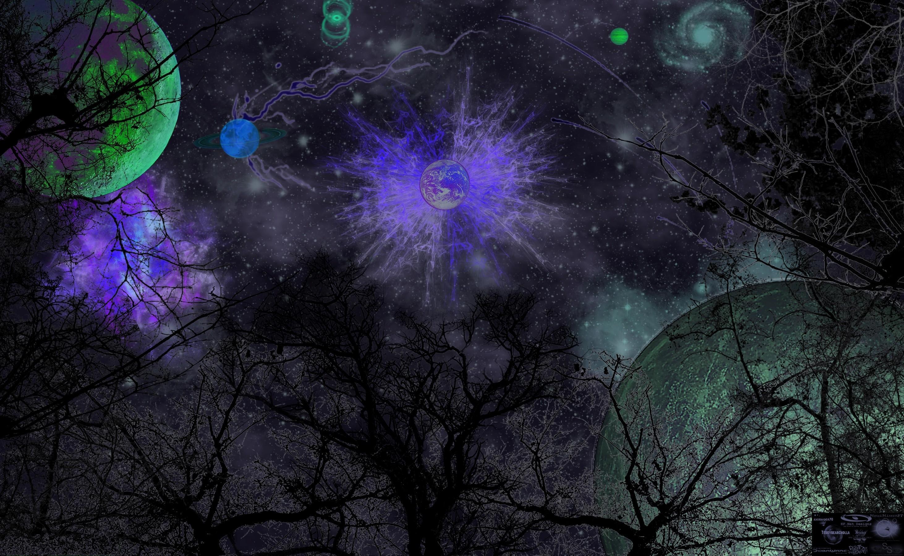 Обои космос, вселенная, планеты, звёзды