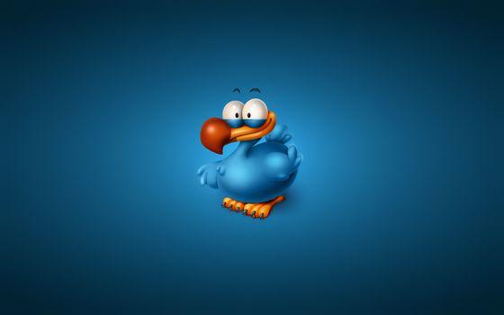 Заставки птица, синяя, клюв