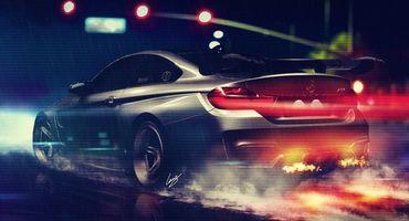 Заставки BMW, скорость, огонь из глушителей