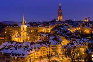 Бесплатные фото Берн,Швейцария,город,ночь
