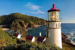 Бесплатные фото Heceta Head Light is a lighthouse,Oregon Coast,пейзаж