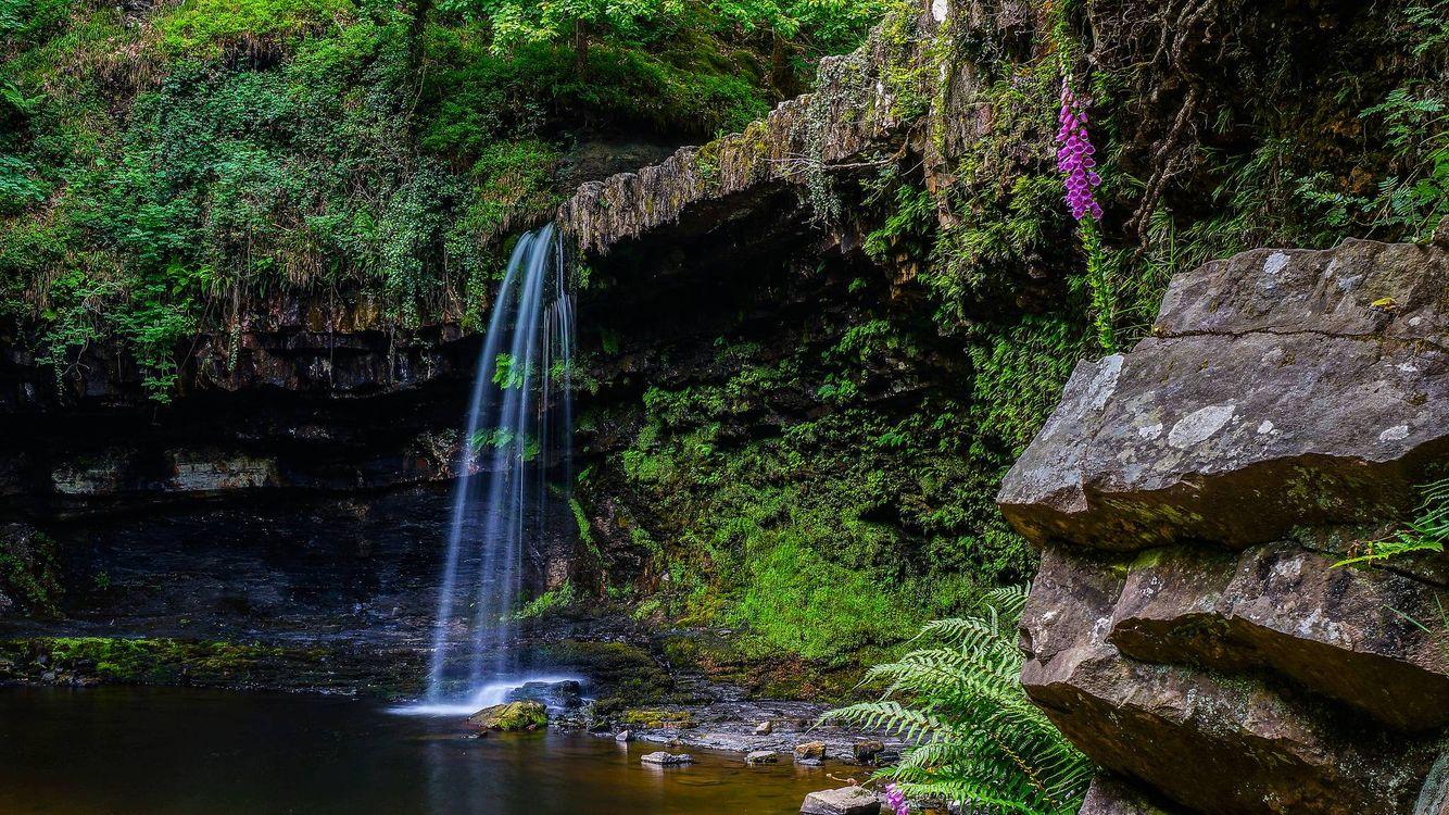 Фото бесплатно водопад, скалы, река - на рабочий стол