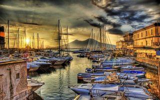 Бесплатные фото порт,пристань,лодки,яхты,море,дома,небо