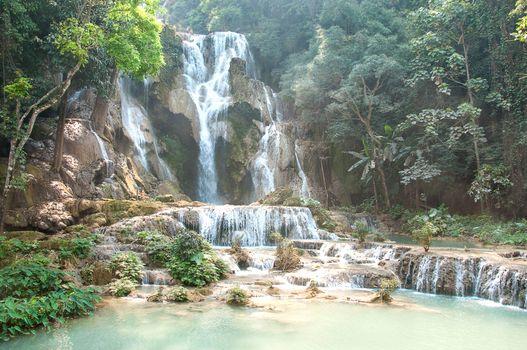 Фото бесплатно водопад, обрыв, джунгли