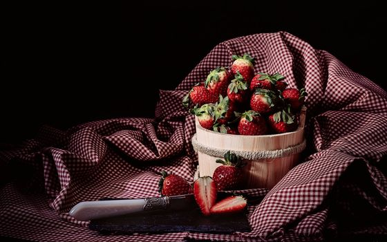 Photo free berries, strawberry, tub