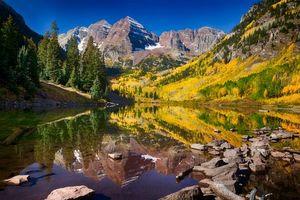 Фото бесплатно Maroon Bells, Colorado, озеро