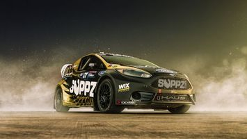 Бесплатные фото Rally Cross,Ford,спорткар,дым,пыль,спорт