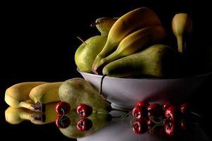 Бесплатные фото фрукты,яблоки,бананы,черешня,груши,еда