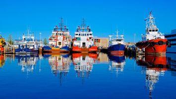 Заставки море, отражение, порт