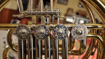 Заставки музыкальный инструмент, валторна, труба