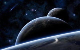 Бесплатные фото планеты,звезды,метеорит,свечение,невесомость,вакуум