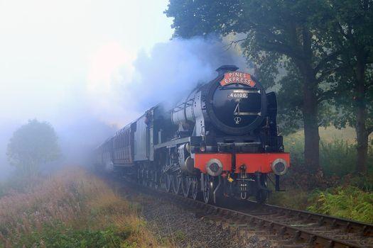 Фото бесплатно паровоз, железная дорога, дым