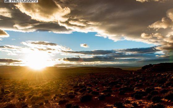 Заставки закат, Техас, небо