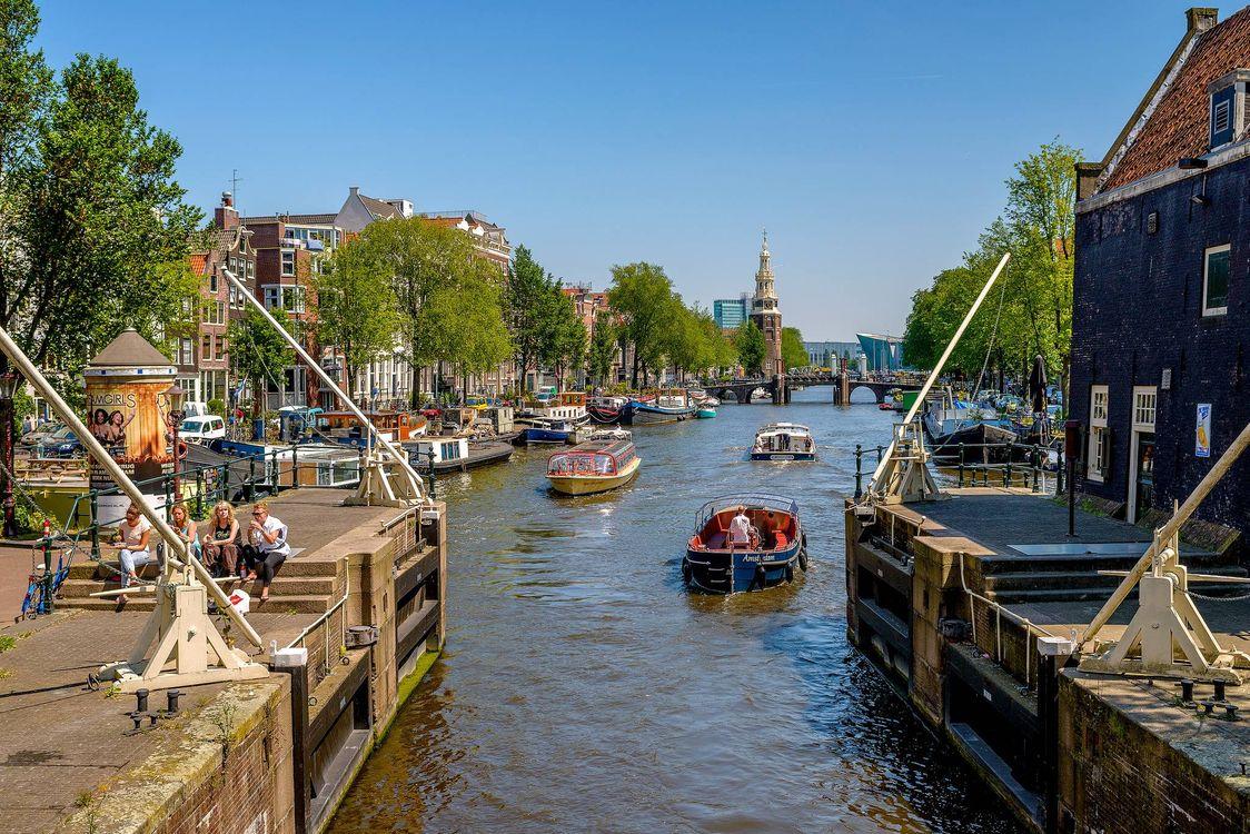 Фото бесплатно Голландия, столица и самый большой город Нидерландов, Амстердам - на рабочий стол