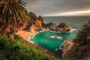 Бесплатные фото McWay Falls,Big Sur,California,Julia Pfeiffer Burns State Park,море,океан,берег
