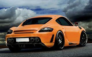 Фото бесплатно порше, оранжевый, спорткар