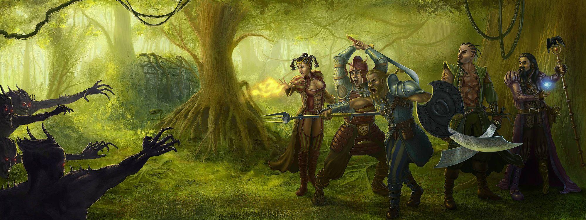 Фото воины монстры панорама - бесплатные картинки на Fonwall