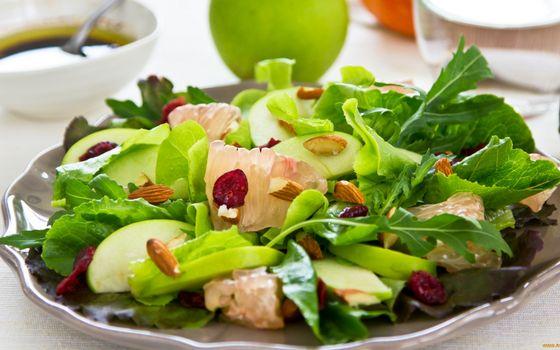 Фото бесплатно блюдо, салат, фрукты