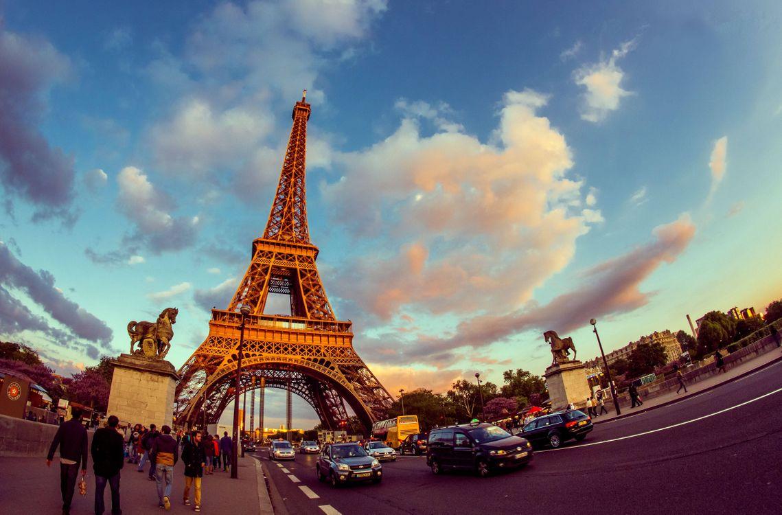 Фото бесплатно Eiffel Tower, Paris, France, Эйфелева башня, Париж, Франция - на рабочий стол