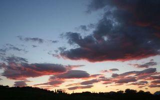 Фото бесплатно вечер, облака, вершины