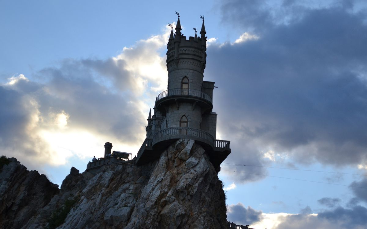 Фото бесплатно ласточкино гнездо, Крым, скала - на рабочий стол
