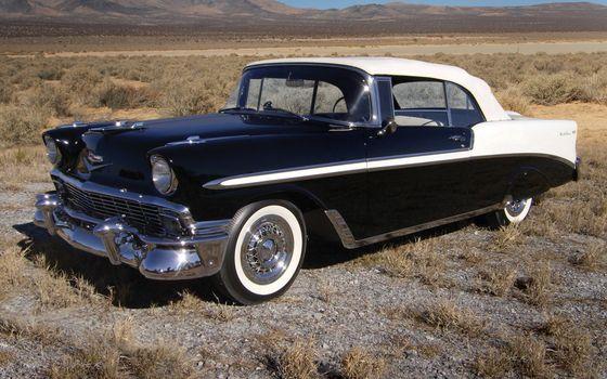Заставки ретро автомобиль, черно-белый, фары