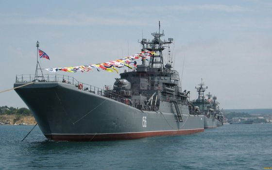 Photo free warships, parade, formation