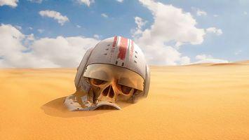 Бесплатные фото Звездные войны,шлем,череп,песок,дюны