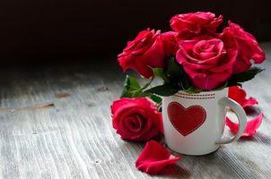 Фото бесплатно С Днем святого Валентина, романтика, розы