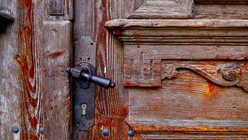 Фото бесплатно дверь, дерево, узор