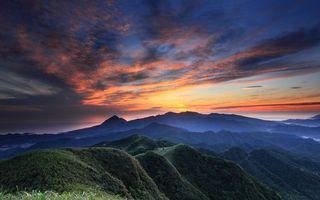 Заставки горы, вершины, растительность