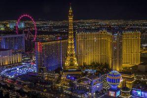 Фото бесплатно ночь, Лас-Вегас, США
