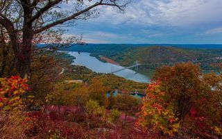Бесплатные фото мост,речка,деревья,листья,осень