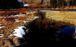 Фото бесплатно весна, река, лед