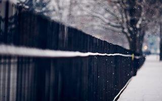 Заставки зима, улица, ограждение
