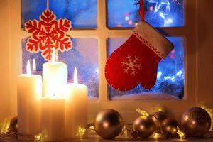 Фото бесплатно Рождество, свечи, свеча