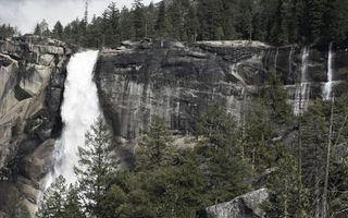Фото бесплатно лес, водопад, брызги