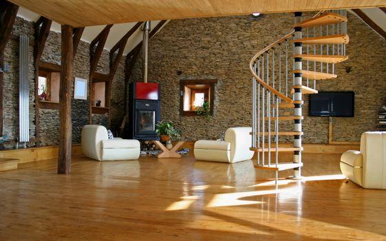 Photo free apartment, linoleum, armchairs