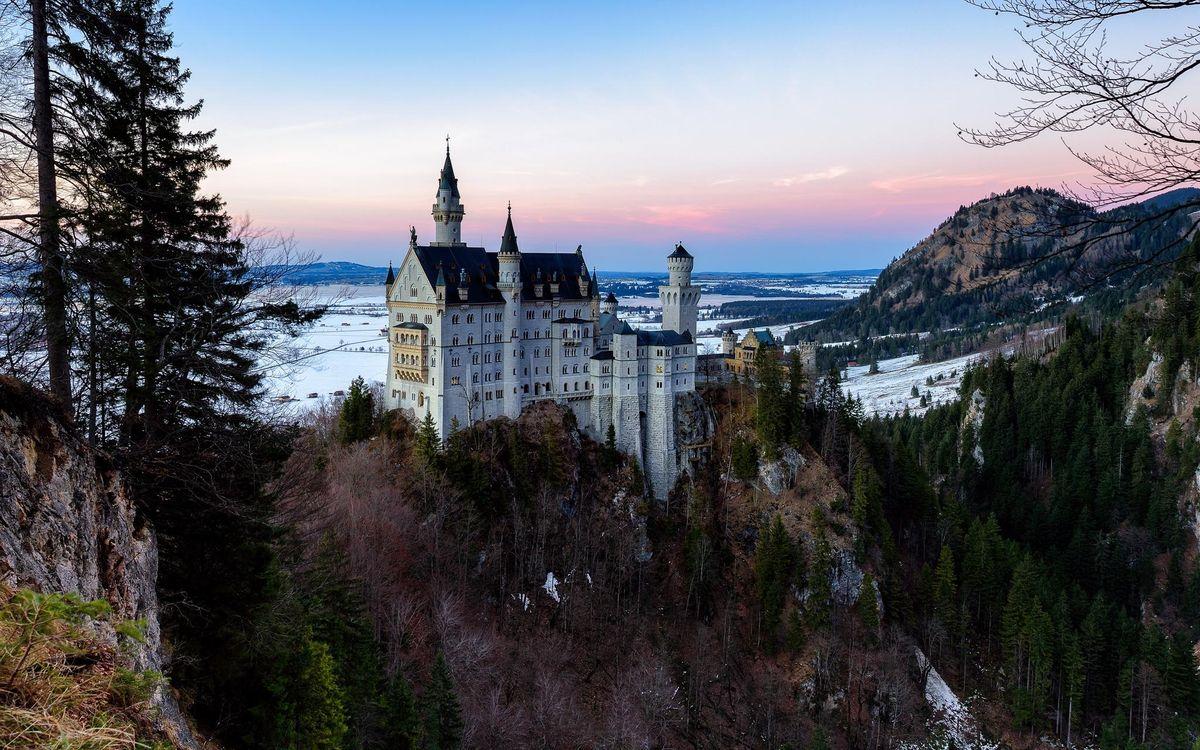 Фото бесплатно Neuschwanstein castle, Замок Нойшванштайн, Германия - на рабочий стол