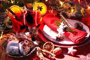 Фото бесплатно Новогодний стол, новогодний натюрморт, фон